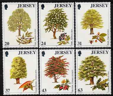 Jersey 1997 Trees set of 6 unmounted mint SG 830-35