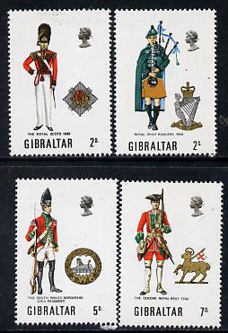 Gibraltar 1970 Military Uniforms #2 set of 4 unmounted mint, SG 248-51*