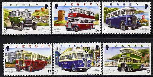 Jersey 1998 75th Anniversary of Jersey Motor Transport Company - Buses (1st series) set of 6, unmounted mint SG 844-49