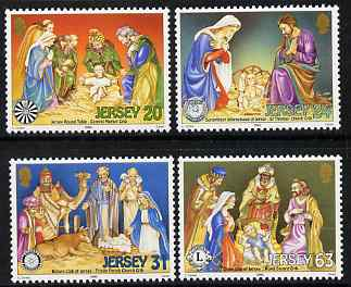 Jersey 1998 Christmas Cribs set of 4 unmounted mint, SG 881-84