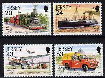 Jersey 1999 125th Anniversary of UPU set of 4 unmounted mint, SG 886-89