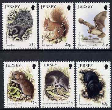 Jersey 1999 Small Mammals set of 6 unmounted mint, SG 911-16