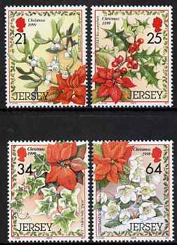 Jersey 1999 Christmas - Festive Foliage set of 4 unmounted mint, SG 923-26