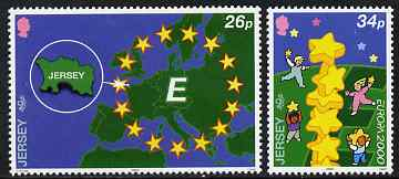 Jersey 2000 Europa set of 2 unmounted mint, SG 934-35