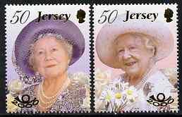 Jersey 2000 Queen Elizabeth the Queen Mother 100th Birthday set of 2 unmounted mint, SG 959-60