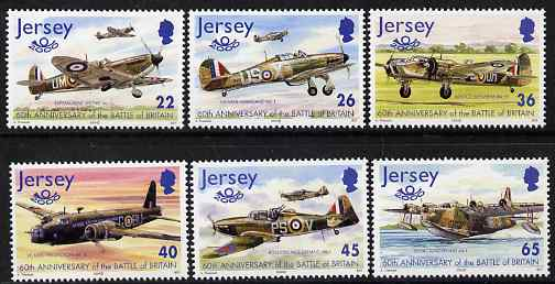 Jersey 2000 60th Anniversary of Battle of Britain set of 6 unmounted mint, SG 962-67