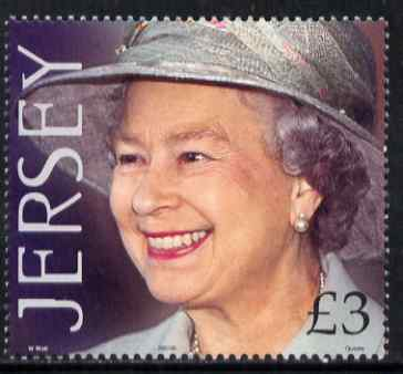 Jersey 2001 QEII 75th Birthday \A33 unmounted mint, SG 990