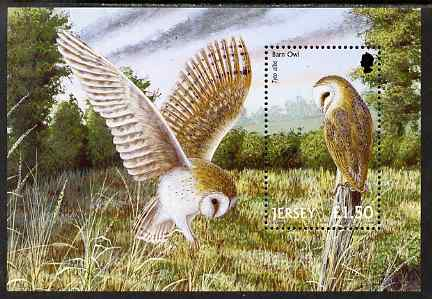 Jersey 2001 Birds of Prey perf m/sheet unmounted mint, SG MS1005