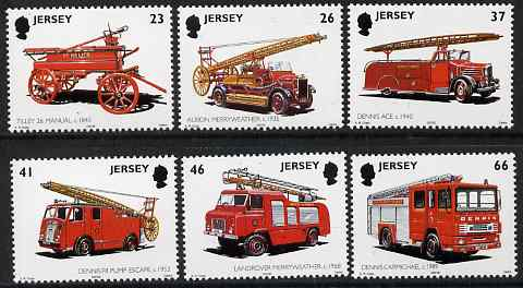 Jersey 2001 Centenary of Jersey Fire & Rescue Service set of 6 unmounted mint, SG 1007-12