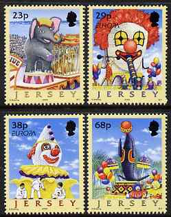 Jersey 2002 Europa - Circus, Carnival Floats set of 4 unmounted mint, SG 1031-34