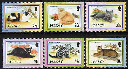 Jersey 2002 25th Anniversary of Caesarea Cat Club set of 6 unmounted mint, SG 1060-65