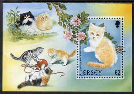 Jersey 2002 25th Anniversary of Caesarea Cat Club perf m/sheet unmounted mint, SG MS1066