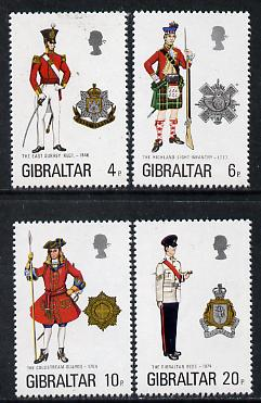 Gibraltar 1975 Military Uniforms #7 set of 4 unmounted mint, SG 340-43
