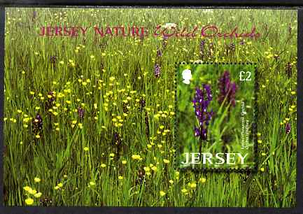 Jersey 2003 Wild Orchids perf m/sheet unmounted mint, SG MS1098