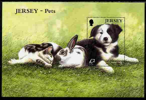 Jersey 2003 Pets perf m/sheet unmounted mint, SG MS1117