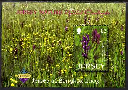 Jersey 2003 Wild Orchids perf m/sheet for Bangkok 2003 Stamp Exhibition unmounted mint, SG MS1118