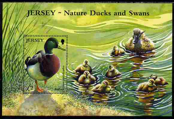 Jersey 2004 Ducks & Swans perf m/sheet unmounted mint, SG MS1142