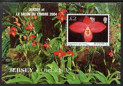 Jersey 2004 Jersey Orchids (5th series) perf m/sheet for Paris Stamp Exhibition unmounted mint, SG MS1157