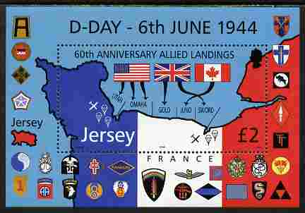 Jersey 2004 60th Anniversary of D-Day perf m/sheet unmounted mint, SG MS1150