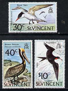 St Vincent 1974 Birds set of 3 unmounted mint SG 396-98