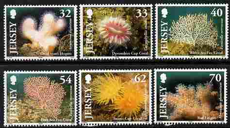 Jersey 2004 Corals set of 6 unmounted mint, SG 1163-68