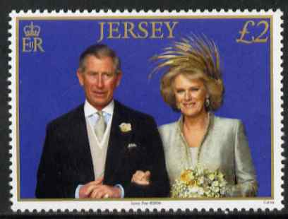 Jersey 2006 First Wedding Anniversary of Prince Charles & Duchess of Cornwall �2 unmounted mint, SG 1271