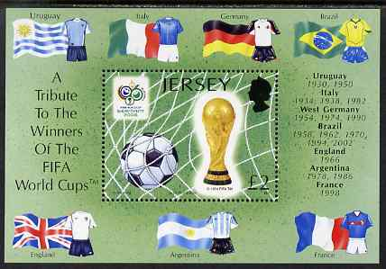 Jersey 2006 World Cup Football Championships perf m/sheet unmounted mint, SG MS1274