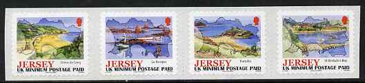 Jersey 2006 Island Views self-adhesive set of 4 NVI stamps unmounted mint, SG 1275-78, stamps on maps, stamps on tourism, stamps on self-adhesive