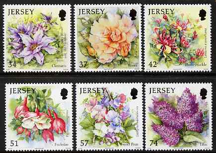 Jersey 2007 Summer Flowers set of 6 unmounted mint, SG 1320-25