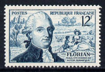 France 1955 Birth Anniversary of Florian (Fabulist) unmounted mint SG 1246