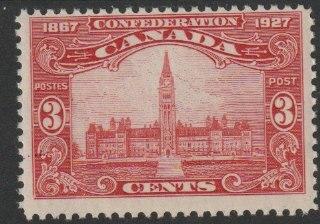 Canada 1927 60th Anniversary 3c carmine (Parliament Building) block of 4 unmounted mint, SG 268