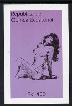Equatorial Guinea 1977 Drawings of Nudes 400ek imperf m/sheet unmounted mint