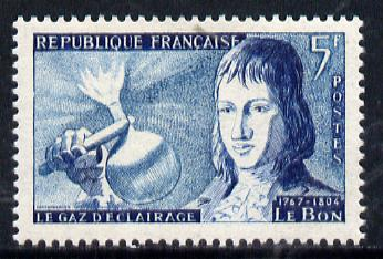 France 1955 Inventions 5f (Le Bon & Gaslight) unmounted mint SG 1239