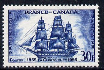 France 1955 La Capricieuse (Warship) unmounted mint SG 1261