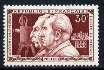 France 1955 French Cinema (Lumiere Brothers) unmounted mint SG 1259*