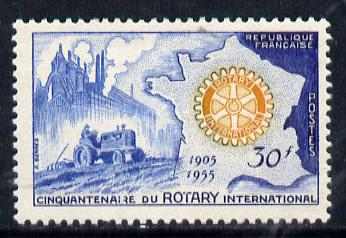 France 1955 Rotary (with Tractor) unmounted mint SG 1235