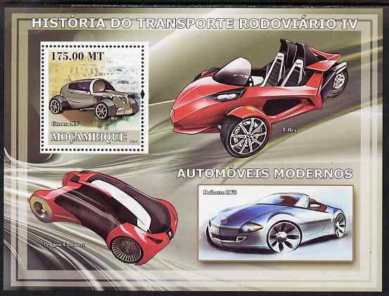 Mozambique 2009 History of Transport - Road Transport #04 perf s/sheet unmounted mint