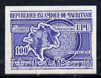 Mauritania 1973 World Universal Postal Union Day imperf colour trial proof (SG 423) several different colour combinations available but price is for ONE unmounted mint