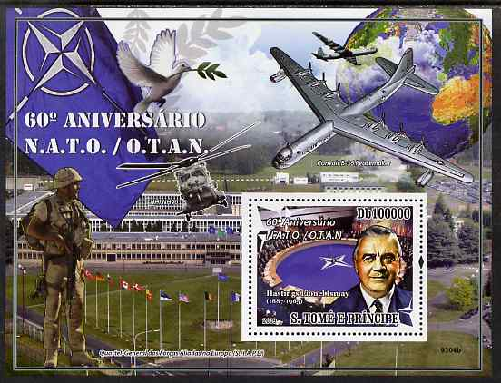 St Thomas & Prince Islands 2009 60th Anniversary of NATO perf s/sheet unmounted mint