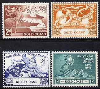 Gold Coast 1949 KG6 75th Anniversary of Universal Postal Union set of 4 unmounted mint, SG149-52