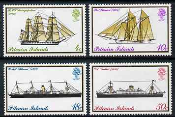 Pitcairn Islands 1975 Mailboats perf set of 4 unmounted mint SG 157-60