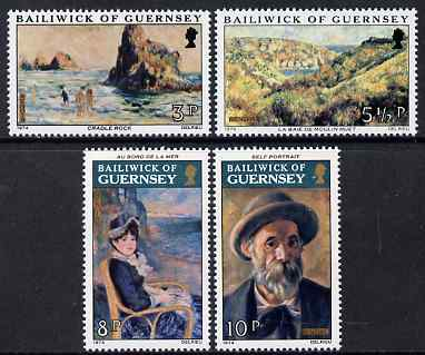 Guernsey 1974 Renoir Paintings set of 4 unmounted mint, SG 118-21