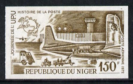Niger Republic 1973 World UPU Day 150f (Fokker Mail Plane) imperf colour trial proof (SG 447) several different colour combinations available but price is for ONE unmounted mint