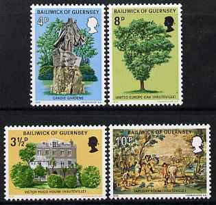 Guernsey 1974 Victor Hugo's Exile in Guernsey set of 4 unmounted mint, SG 126-29