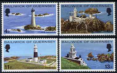 Guernsey 1976 Lighthouses set of 4 unmounted mint, SG 135-38
