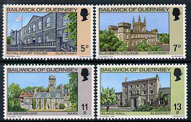 Guernsey 1976 Christmas - Buildings set of 4 unmounted mint, SG 145-48