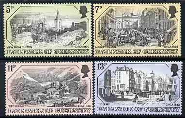 Guernsey 1978 Old Guernsey Prints (1st series) set of 4 unmounted mint, SG 151-64