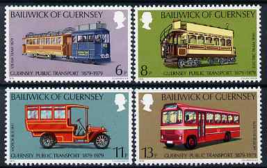 Guernsey 1979 History of Public Transport set of 4 unmounted mint, SG 203-206