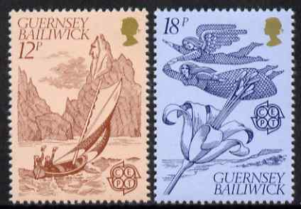 Guernsey 1981 Europa - Folklore set of 2 unmounted mint, SG 230-31