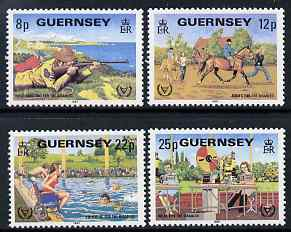 Guernsey 1981 International Year for Disabled Persons set of 4 unmounted mint, SG 245-48